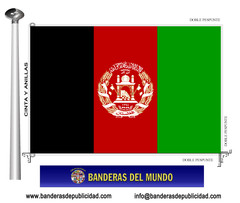 Bandera país de Afganistán