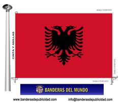 Bandera país de Albania