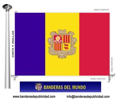 Bandera país de Andorra