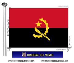 Bandera país de Angola