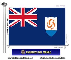 Bandera país de Anguilla