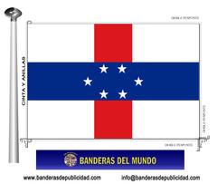 Bandera país de Antillas Holandesas