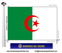 Bandera país de Argelia