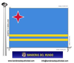 Bandera país de Aruba