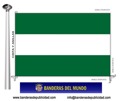 Bandera Autonómica de Andalucía sin escudo