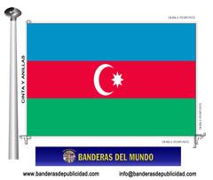 Bandera país de Azerbaiyán