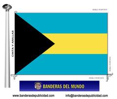 Bandera país de Bahamas