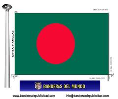 Bandera país de Bangladesh