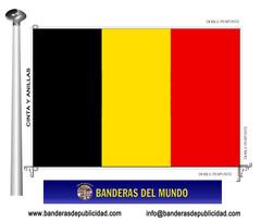 Bandera país de Bélgica