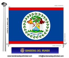 Bandera país de Belice