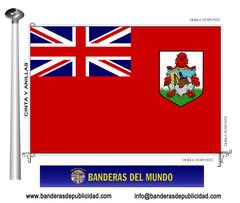 Bandera país de las Bermudas