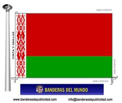 Bandera país de Bielorrusia