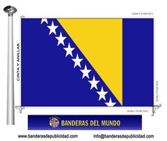 Bandera país de Bosnia Herzegovina