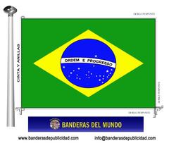Bandera país de Brasil