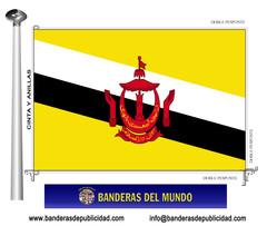 Bandera país de Brunei