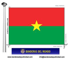 Bandera país de burkina faso