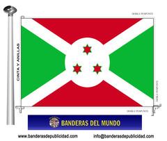 Bandera país de Burundi