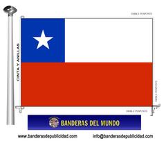 Bandera país de Chile