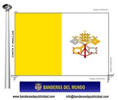 Bandera país de Ciudad Del Vaticano