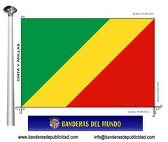Bandera país del Congo