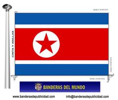 Bandera país de Corea Del Norte