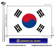 Bandera país de Corea Del Sur