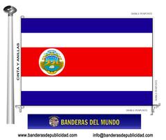 Bandera país de Costa Rica