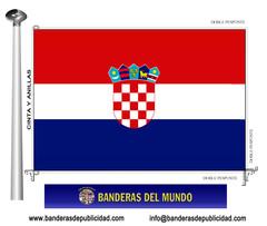 Bandera país de Croacia