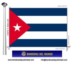 Bandera país de Cuba