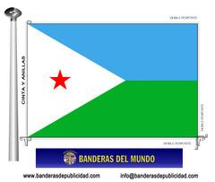 Bandera país de Djibouti