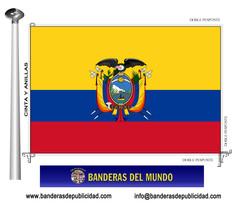 Bandera país de Ecuador.