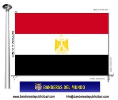 Bandera país de Egipto