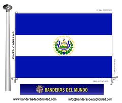 Bandera país de El Salvador
