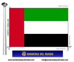 Bandera país de Emiratos Árabes