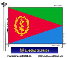 Bandera país de Eritrea