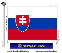 Bandera país de Eslovaquia