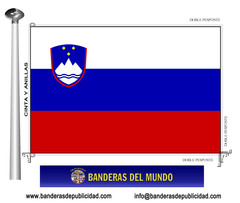 Bandera país de Eslovenia