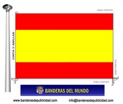 Bandera país de España sin escudo