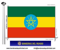 Bandera país de Etiopia