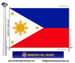 Bandera país de Filipinas
