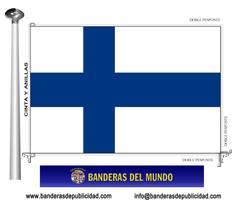 Bandera país de Finlandia