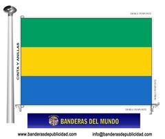 Bandera país de Gabón