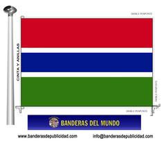 Bandera país de Gambia
