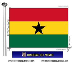 Bandera país de Ghana