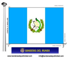 Bandera país de Guatemala