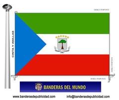 Bandera país de Guinea Ecuatorial