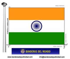 Bandera país de la India