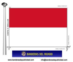 Bandera país de Indonesia