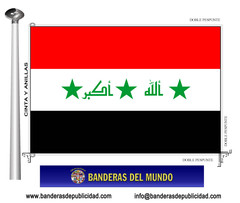 Bandera país de Irak