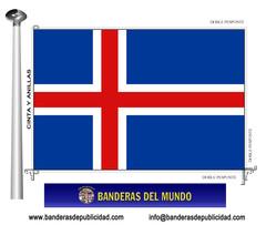 Bandera país de Islandia